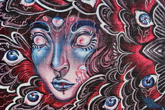 Graffiti on Gratiot in Detroit. Wall art in downtown Detroit is spectacular royalty free stock images