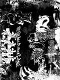 Graffiti grunge. A black and white graffitti montage Royalty Free Stock Image