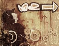Graffiti grunge background Stock Photos