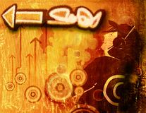 Graffiti grunge background Stock Photo