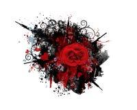 graffiti grunge pistoletów serca wzrastali Obrazy Stock