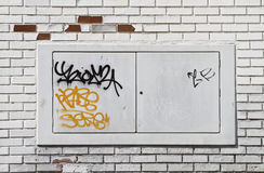 Graffiti on grunge wall Royalty Free Stock Photography