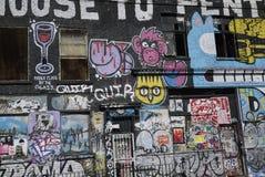 Graffiti in Hackneypaard-Wiek royalty-vrije stock afbeeldingen