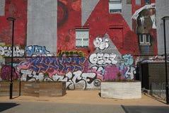 Graffiti in Hackneypaard-Wiek stock foto
