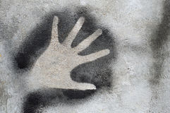Graffiti. Hand graffiti on the wall Royalty Free Stock Photos
