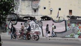 Graffiti in Havana, Cuba stock footage
