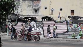 Graffiti in Havana, Cuba. stock footage