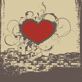Graffiti heart. Ready cd cover with heart over wall Stock Image