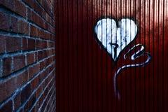 Graffiti heart Royalty Free Stock Photo