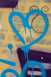 Graffiti Heart Stock Photo