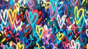 Graffiti hearts in downtown New York Royalty Free Stock Photos
