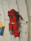 Graffiti hellboy Immagini Stock