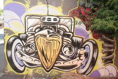 Graffiti Hete Staaf Royalty-vrije Stock Afbeeldingen