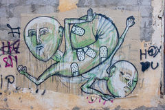 Graffiti with human figures Royalty Free Stock Images