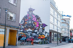 Graffiti in Iceland Stock Images