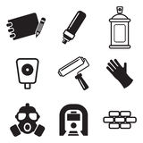 Graffiti Icons Royalty Free Stock Images