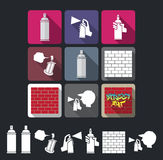 Graffiti icons Royalty Free Stock Photos