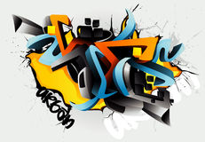 Graffiti illustration Royalty Free Stock Photography