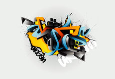 Graffiti illustration royalty free illustration