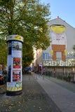 Graffiti im Kreuzberg-Bezirk, Berlin Stockfotografie