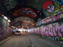 Graffiti im leake Straßentunnel Lizenzfreies Stockbild