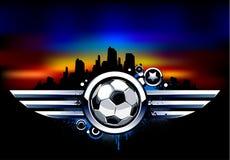 Graffiti image with ball Royalty Free Stock Image