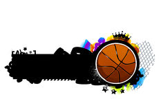 Graffiti image with basketball Royalty Free Stock Images
