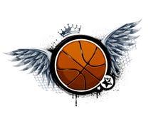Graffiti image with basketball Royalty Free Stock Image