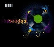 Graffiti image with vinyl disc Royalty Free Stock Image