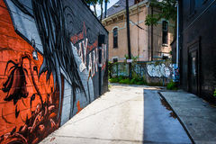 Free Graffiti In An Alley In Little Five Points, Atlanta, Georgia. Royalty Free Stock Image - 47445036