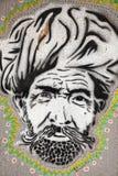 Graffiti Indiański mężczyzna w turbanie Obraz Stock