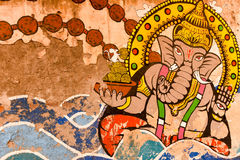 Graffiti of Indian God Royalty Free Stock Photography