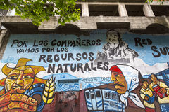 Graffiti of Indian lifestyle, Buenos Aires, Argentina Royalty Free Stock Photos