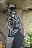 Graffiti intéressant créé par des fans de club du football de Legia Varsovie Images stock