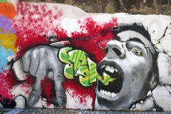 Graffiti intense Image libre de droits