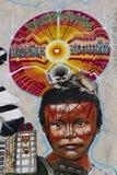 Graffiti interbrigadas detail Royalty Free Stock Photo
