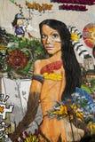 Graffiti interbrigadas detail Royalty Free Stock Image