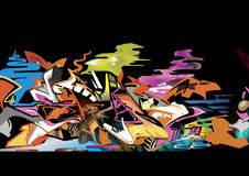 Graffiti isolate on black BG Royalty Free Stock Image