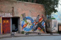 Graffiti  in Istanbul Royalty Free Stock Photos