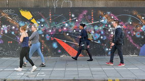 Graffiti Izolują na ruchliwej ulicie obrazy stock