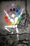 Graffiti JérÃ'me Mesnager Lizenzfreie Stockfotografie
