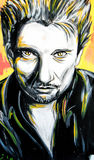Graffiti Johnny Hallyday portrait Royalty Free Stock Images