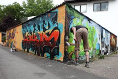 Graffiti kąt Obrazy Royalty Free