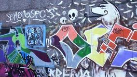 Graffiti stock video