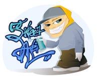 Graffiti-Künstler Stockbild
