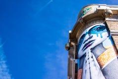 Graffiti kobieta z zlanymi rękami obrazy stock