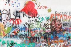 graffiti kolorowa ściana Obraz Stock