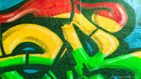Graffiti kolory i linie Zdjęcia Royalty Free