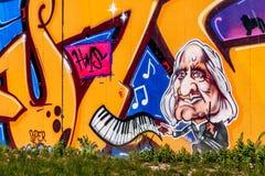 Graffiti-Komponist Franz Liszt Bayreuth Stockbilder