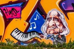 Graffiti-Komponist Franz Liszt Bayreuth Stockfotos